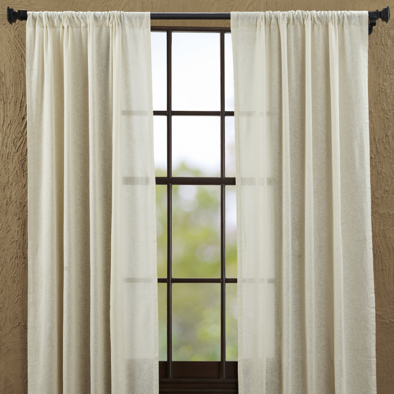 Country Panel Curtains Tobacco Cloth Natural Panels 84 Quot