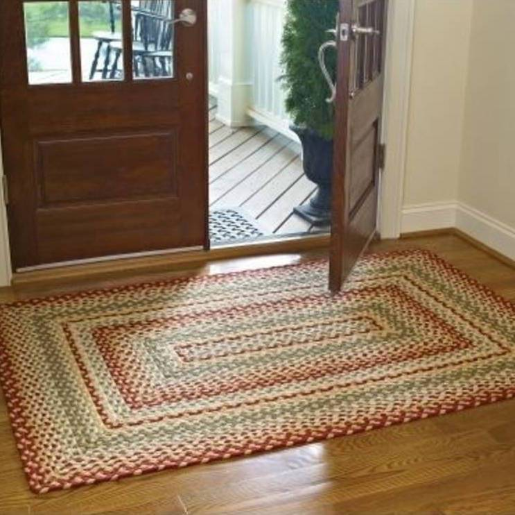 "park designs mill village braided rectangle rug - 48"" x 72"""