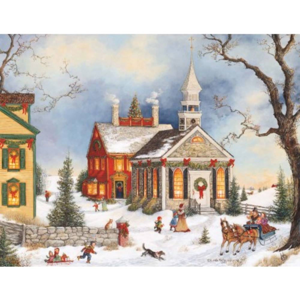 Folk Art Holiday Assorted Christmas Cards Piper Classics