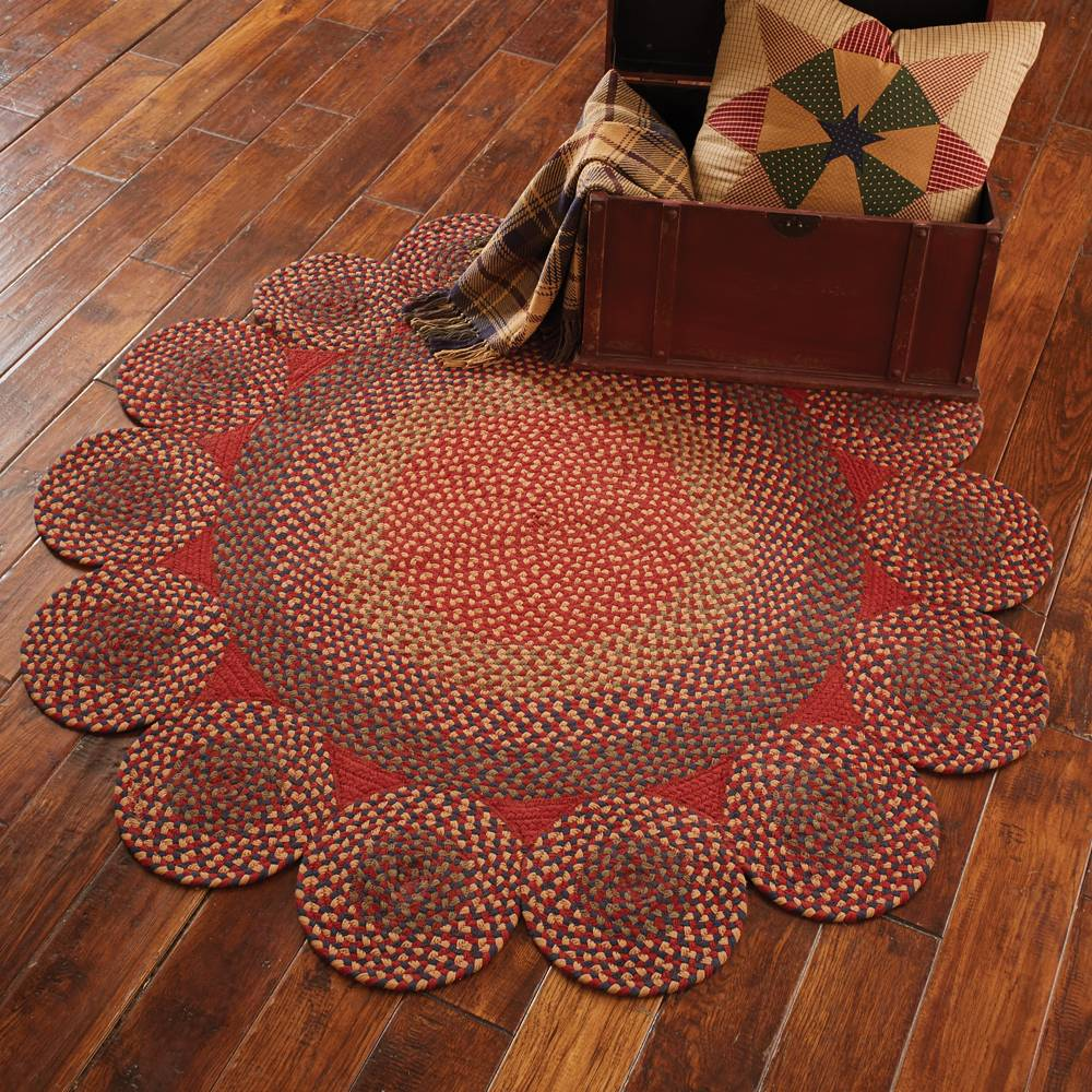 Circle Circles Braided Rug 54 Quot Dia Piper Classics