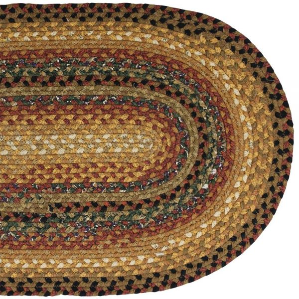Country Style Braided Cotton Rugs Peppercorn