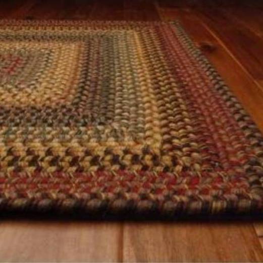 country style braided wool rugs - budapest